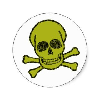 Vintage Skull & Crossbones Stickers