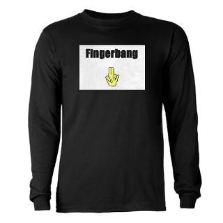 Fingerbang Long Sleeve Dark T Shirt
