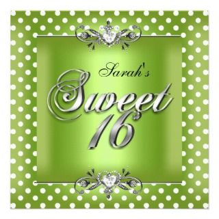 Sweet 16 Birthday Lime Zebra Black Dress Invitation