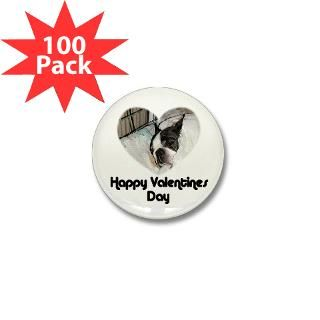 happy valentines day boston terrier mini button $ 94 99