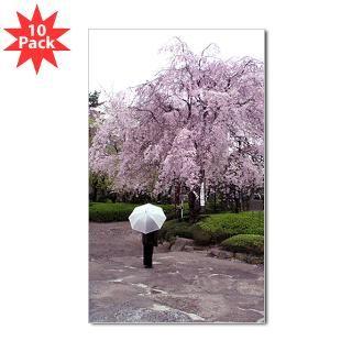 09 cherry blossoms umbrella rectangle sticker 50 pk $ 97 19