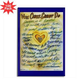 Blue and Gold Angel Heart Rectangle Magnet (100 pa for $250.00