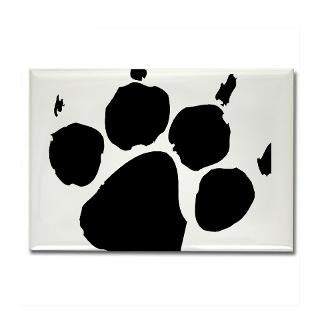 Wild Paw print Rectangle Magnet