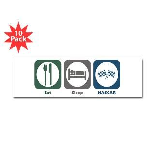 Eat Sleep NASCAR 3 Lapel Sticker (48 pk)