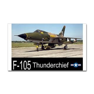 105 Thunderchief Fighter Bomber Sticker (Rectang