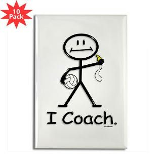 Volleyball Coach Rectangle Magnet (10 pack)
