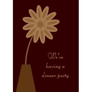 Stylish Brown Simple Cartoon Flower Custom Envelope