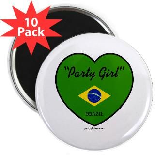 Party Girl Brazil 2.25 Magnet (10 pack)