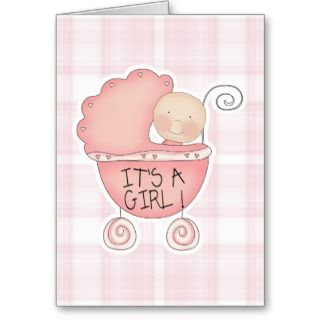 Its a Girl Congratulations Card