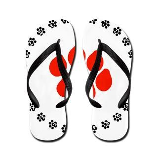 Bear Paw Gifts  Bear Paw Bathroom  Red Paw Print Flip Flops
