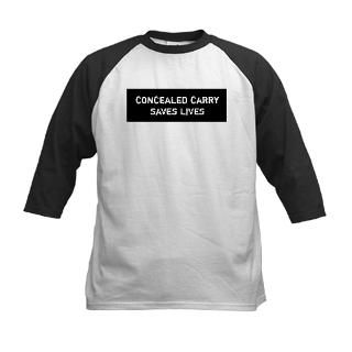 Concealed Carry Saves Lives T Shirt by buypoliticalshirtscom