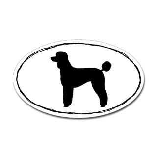 Poodle Silhouette Stickers  Car Bumper Stickers, Decals