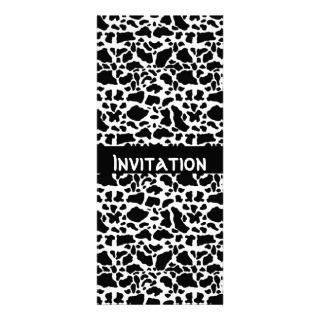 Invitations Black & White Style Animal Print