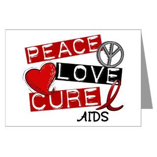 PEACE LOVE CURE AIDS T Shirts & Gifts  Awareness Gift Boutique