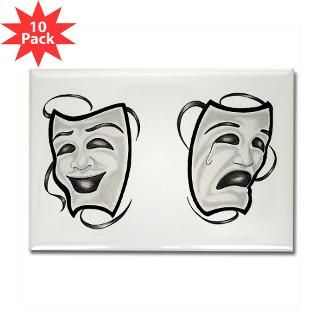 Comedy Tragedy Masks  Tattoo Design T shirts and More