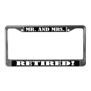 Retirement License Plate Frame  Buy Retirement Car License Plate