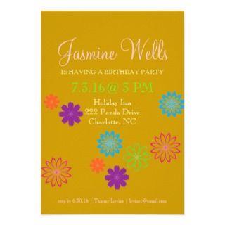 Birthday Party Invite  Colors of Fun II (TBA) go
