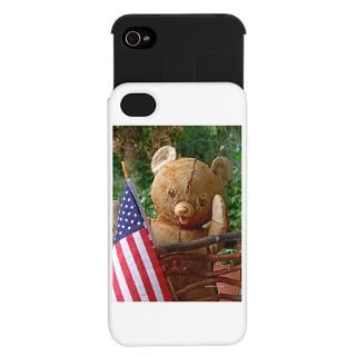 4Th Of July Gifts  4Th Of July iPhone Cases  Teddy Bear USA Flag