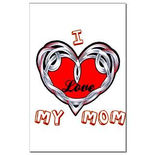 Love My Mom  Tattoo Design T shirts and More