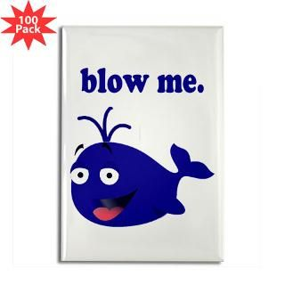 blow me whale rectangle magnet 100 pack $ 189 99