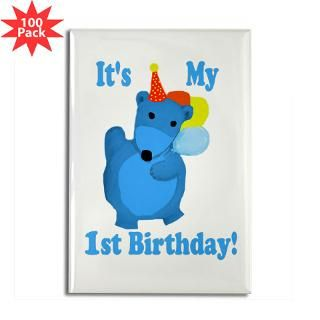my first birthday rectangle magnet 100 pack $ 189 99