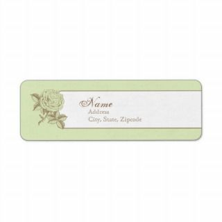 Green Vintage French Return Address Label
