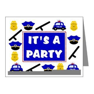 Police Birthday Invitation Note Cards (Pk of 20) for