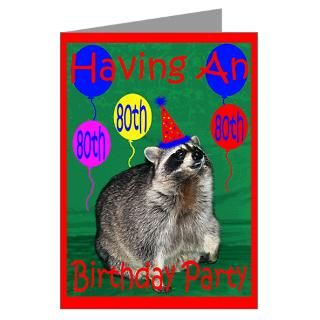 Invitation to 80th Birthday Party Greeting Card by Laurie77