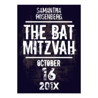 Rock Band Bat Mitzvah Invitation invitations by Lowschmaltz