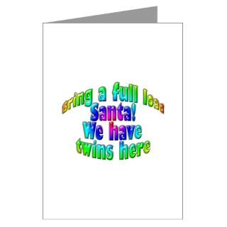 Twins First Christmas Greeting Cards  Buy Twins First Christmas Cards