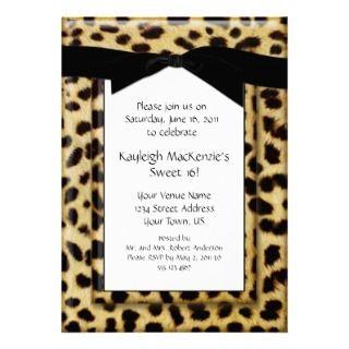 Leopard Print Sweet 16 Invitation