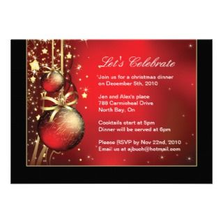 Classy Christmas Dinner Party Invitation