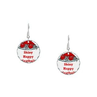 Cooking Gifts  Cooking Jewelry  Shiny Happy Meatballs Earring Circle