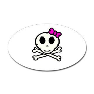 Skull And Crossbones Bow Stickers  Car Bumper Stickers, Decals