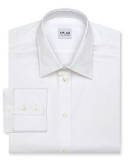 Armani Collezioni White Dress Shirt   Contemporary Fit, Point Collar