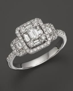 Diamond Emerald Cut Ring in 14K White Gold, 1.0 ct.tw.