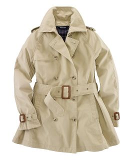 Ralph Lauren Childrenswear Girls Cropped Pop Trench Coat   Sizes 7 16