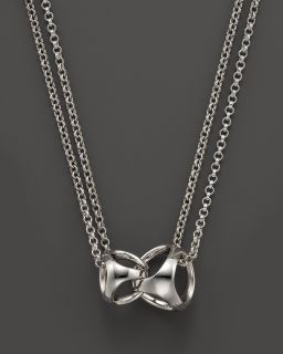 Sterling Silver Triadra Linked by Love Necklace, 16
