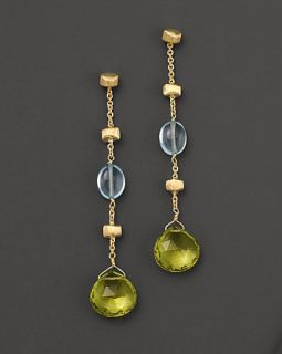 Marco Bicego Paradise Collection 18 Kt. Yellow Gold, Blue Topaz and