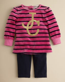 Girls Velour Top and Pant Set   Sizes 3 24 Months