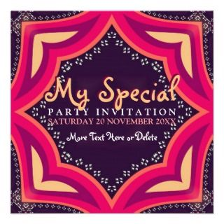 Goddess Diva Special Event Party Invitation