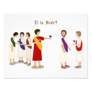 Et tu, Brute? Julius Caesar Personalized Announcement