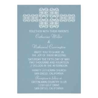 Blue Bohemian Chic Wedding Invite