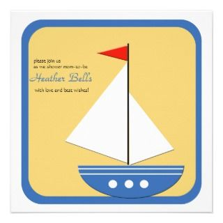 Little Navigator   Baby Shower Invitation