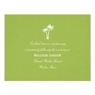 Palm Trees Wedding Invitation   Lime Border