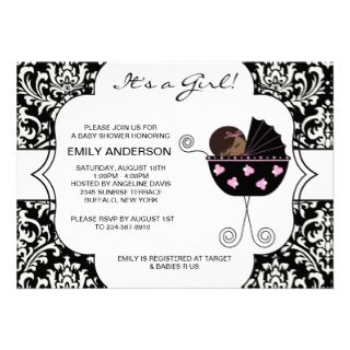 baby shower invitations african american baby girl shower invitations