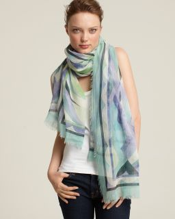 Emilio Pucci Nastri Wool/Silk Oversized Scarf