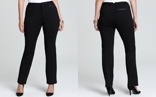 Not Your Daughters Jeans Plus Ryan Straight Pants in Black_2