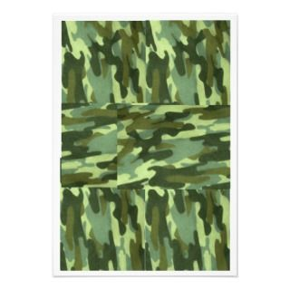 Green Camo Invitation Surprise Party