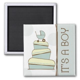 Blue Baby Carriage Cake Its A Boy Magnet